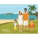 Happy Family Vacations Illustration Flat Design - GraphicRiver Item for Sale