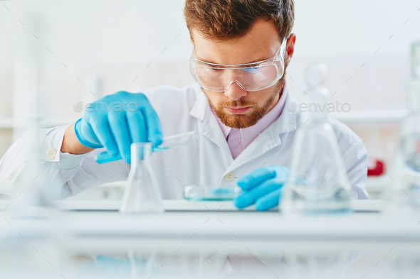 Occupation of microbiologist - Stock Photo - Images