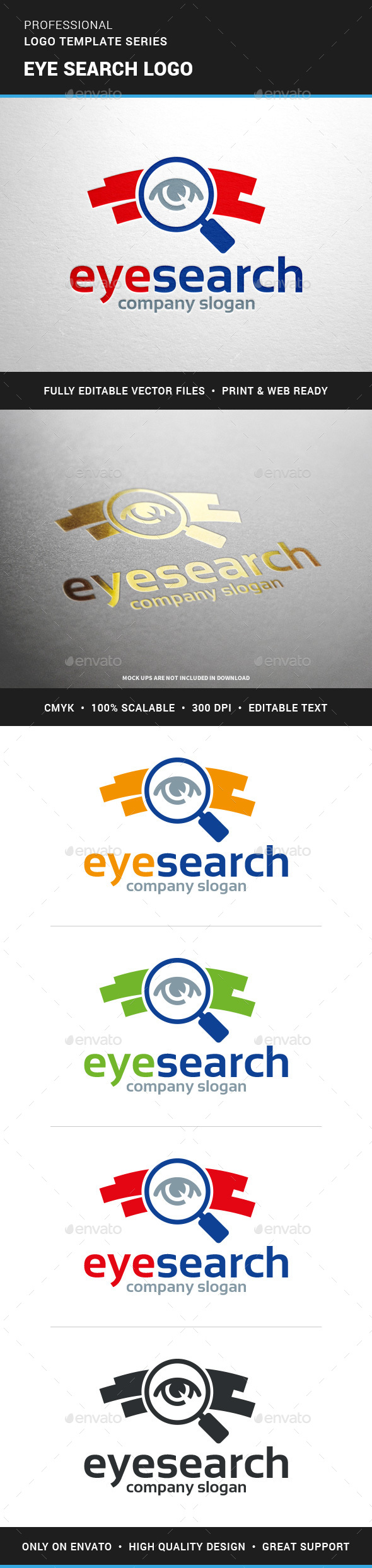 Eye Search Logo Template - Objects Logo Templates