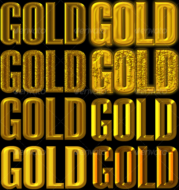 Golden Layer Style for Adobe Photoshop - Photoshop Add-ons