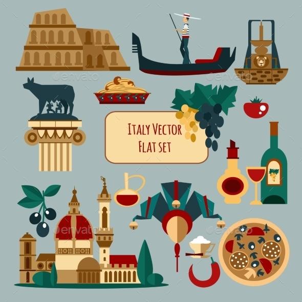 Italy Touristic Set - Miscellaneous Vectors