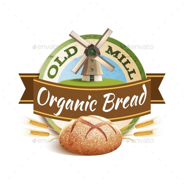 Bakery Label Illustration - Food Objects