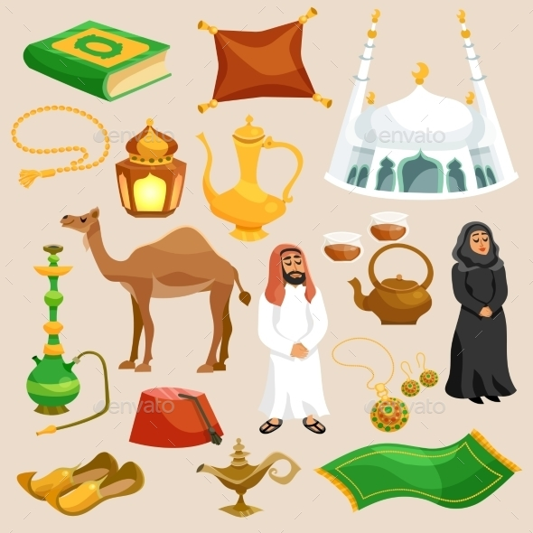 Arabic Culture Set - Religion Conceptual