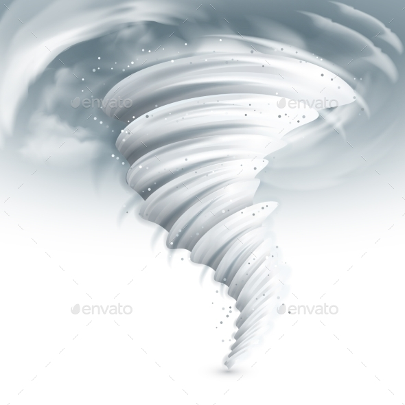 Tornado Sky Illustration - Nature Conceptual