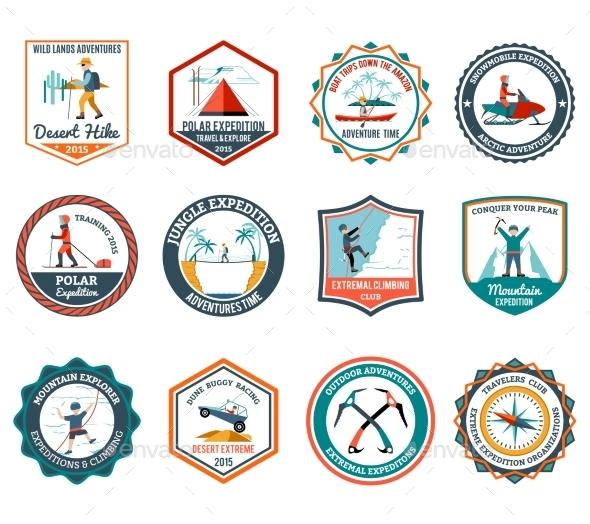 Expedition Emblems Set - Travel Conceptual