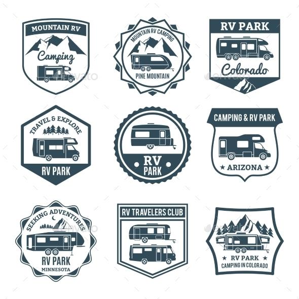 Recreational Vehicle Emblems - Miscellaneous Vectors