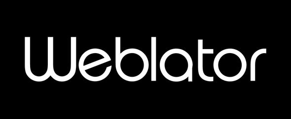 Weblator logo black
