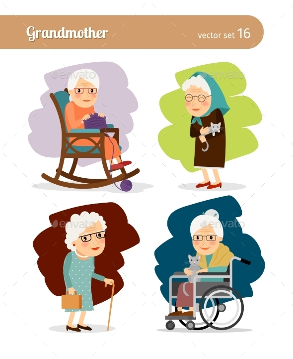 Grandmother Cartoon Character - People Characters