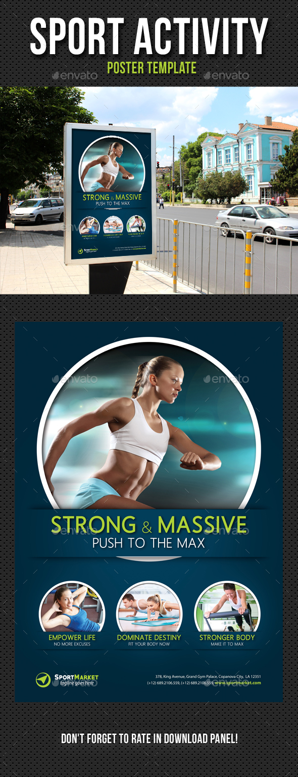 Sport Activity Poster Template V04 - Signage Print Templates
