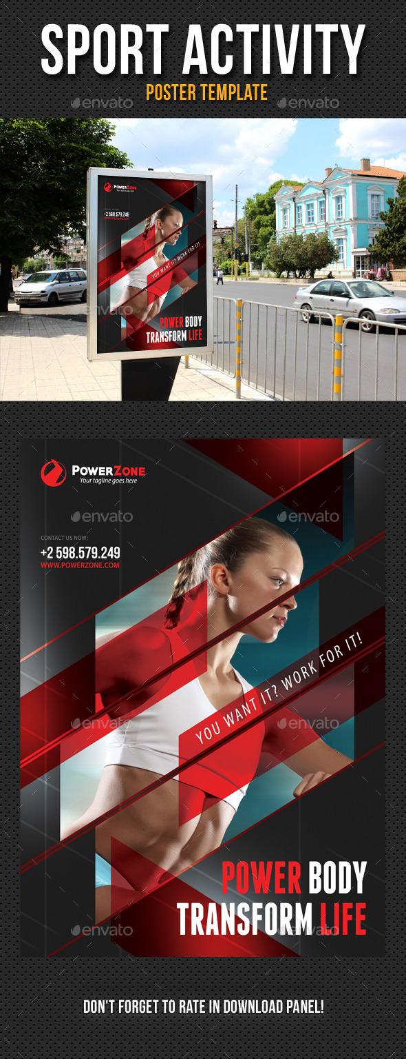 Sport Activity Poster Template V02 - Signage Print Templates