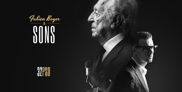 Fabien Boyer & Sons PSD Template
