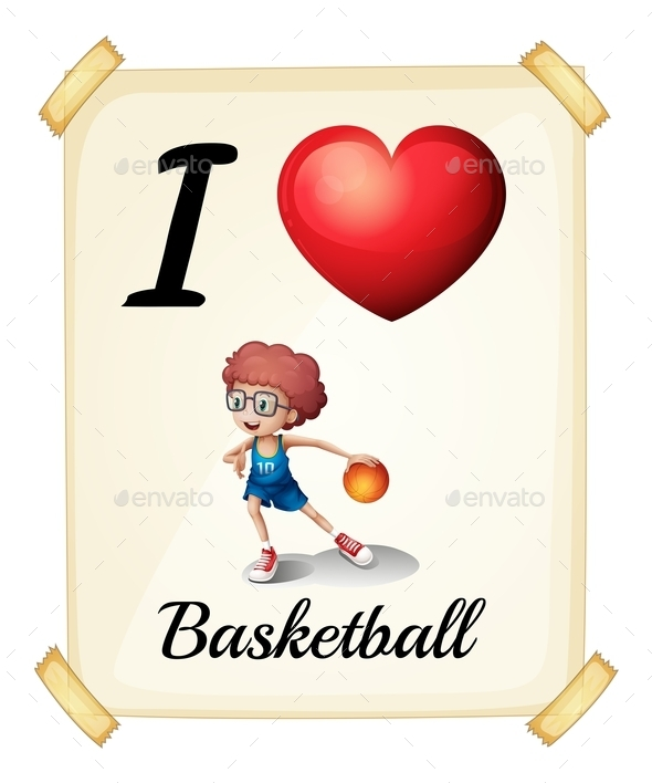 A Poster Showing the Love of Basketball - People Characters