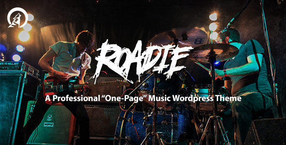 Roadie – Professional One Page Music Theme