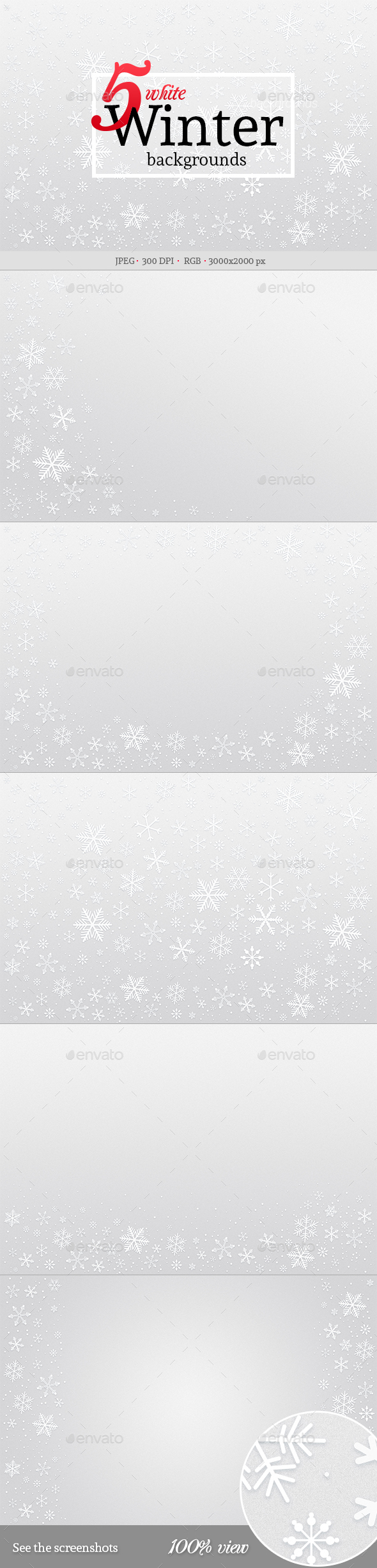5 White Winter Backgrounds - Backgrounds Graphics