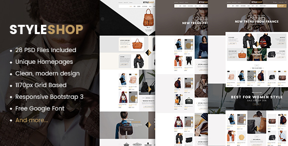 StyleShop - Multipurpose eCommerce PSD Template