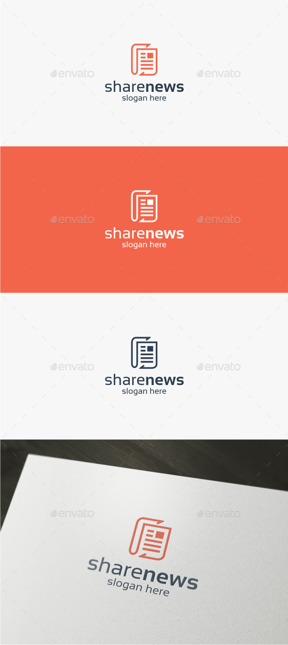 Share News - Logo Template by trustha | GraphicRiver