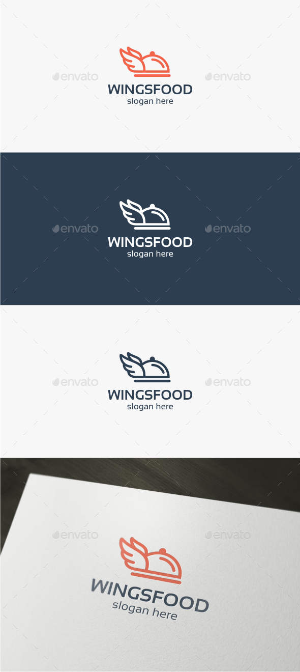Wings Food - Logo Template - Food Logo Templates
