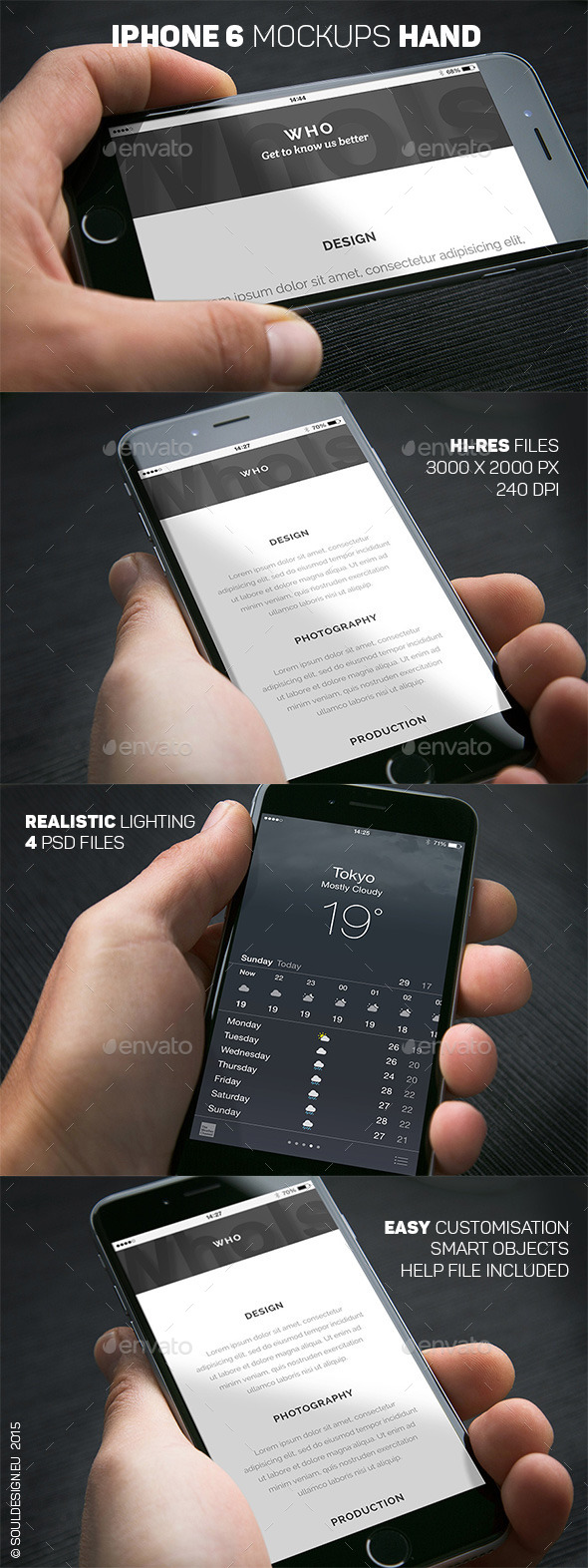 iPhone 6 Closeup Mockups Hand - Mobile Displays