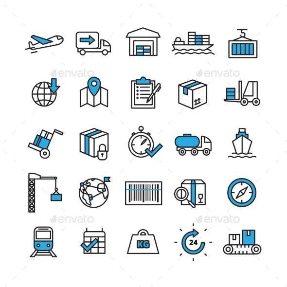 Logistics Icons Set - Business Icons