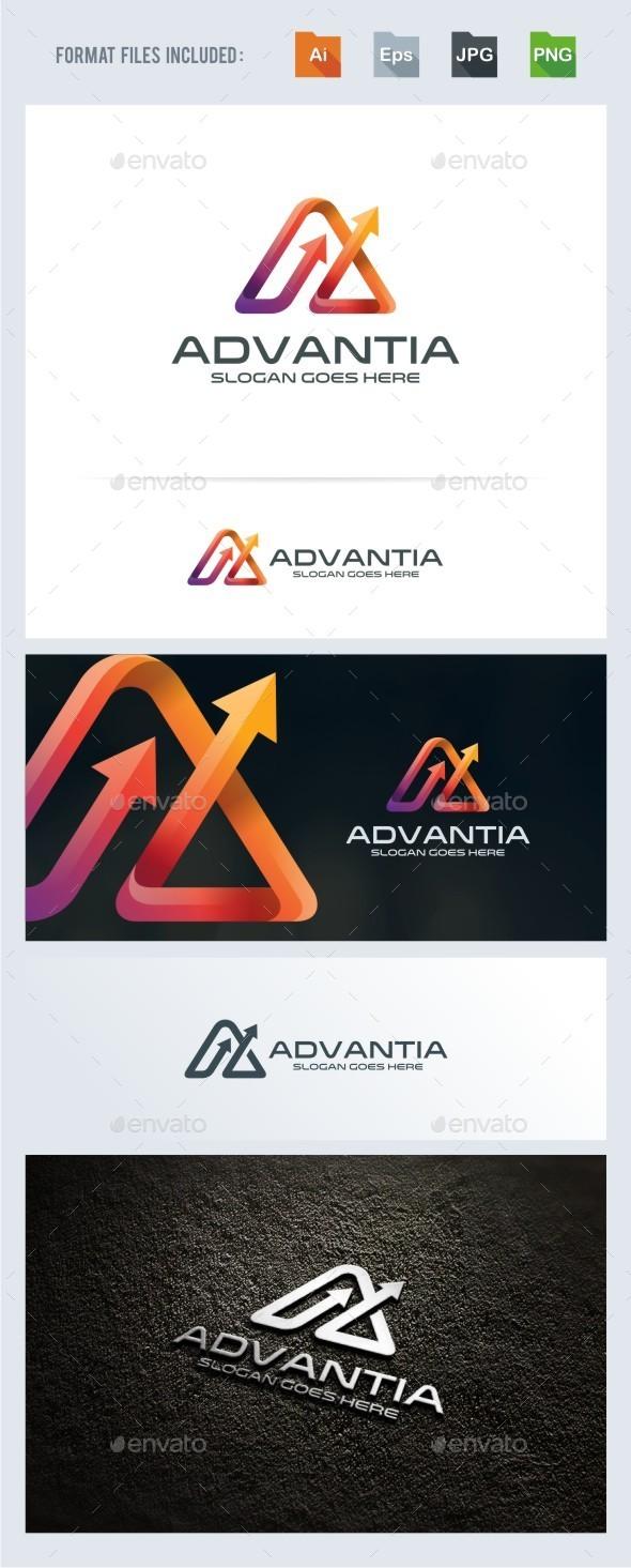 Advance - A Letter - Arrow Logo Template - Letters Logo Templates