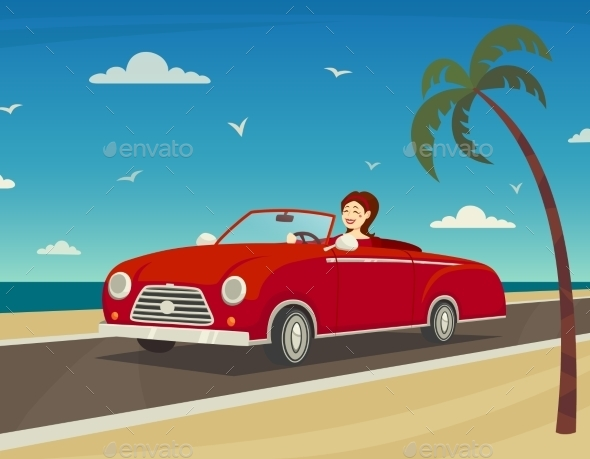 Trip To The Sea Background  - Travel Conceptual