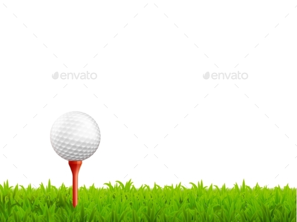 Golf Realistic Illustration  - Sports/Activity Conceptual
