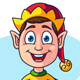 Cartoon Christmas Elf Character - GraphicRiver Item for Sale