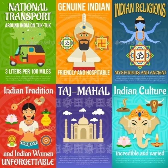 India Poster Set - Religion Conceptual
