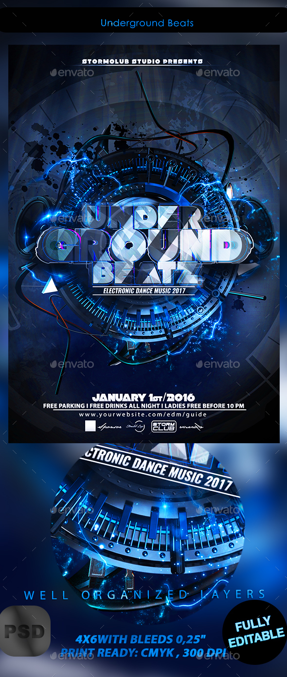 Underground Beats - Events Flyers