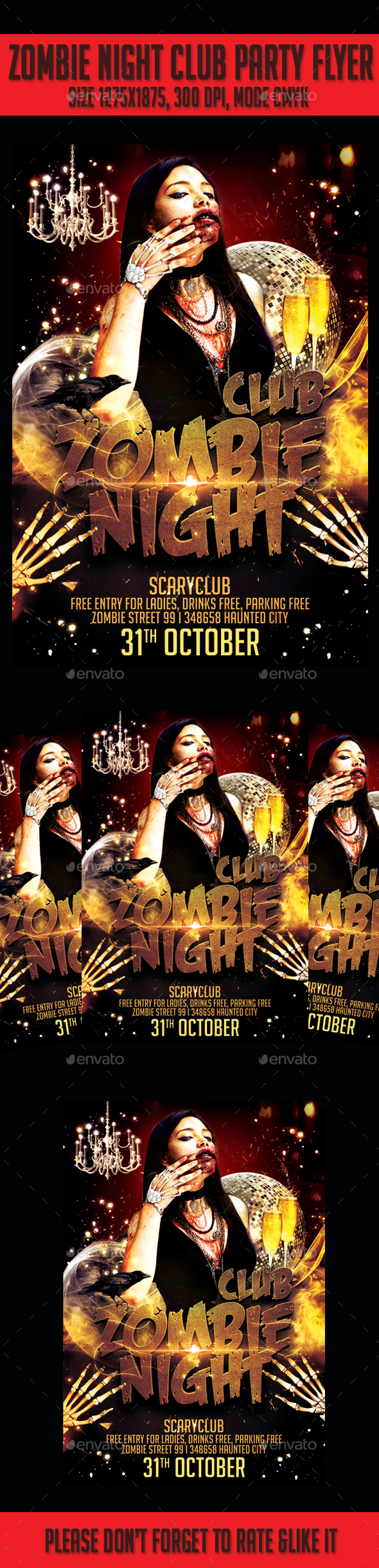 Zombie Club Night  Party Flyer - Events Flyers