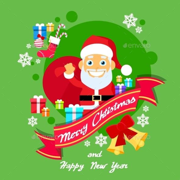 Merry Christmas Character  Santa Helper Greeting - Seasons Nature