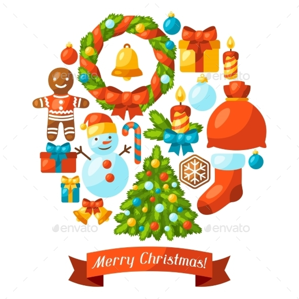 Merry Christmas Holiday Greeting Card - Christmas Seasons/Holidays