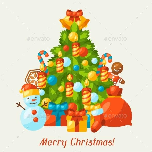 Merry Christmas Holiday Greeting Card - Christmas Seasons/Holidays