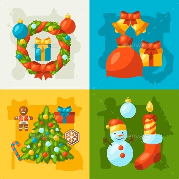 Merry Christmas Holiday Greeting Cards - Christmas Seasons/Holidays