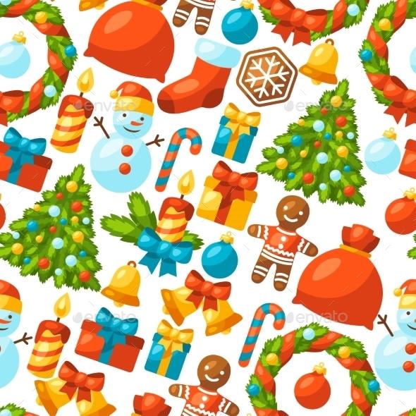 Merry Christmas Holiday Seamless Pattern - Christmas Seasons/Holidays