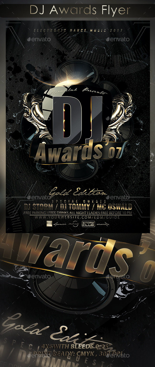 DJ Awards Flyer - Events Flyers