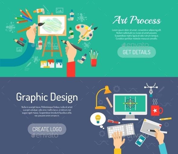 Creative Process Banners - Miscellaneous Vectors