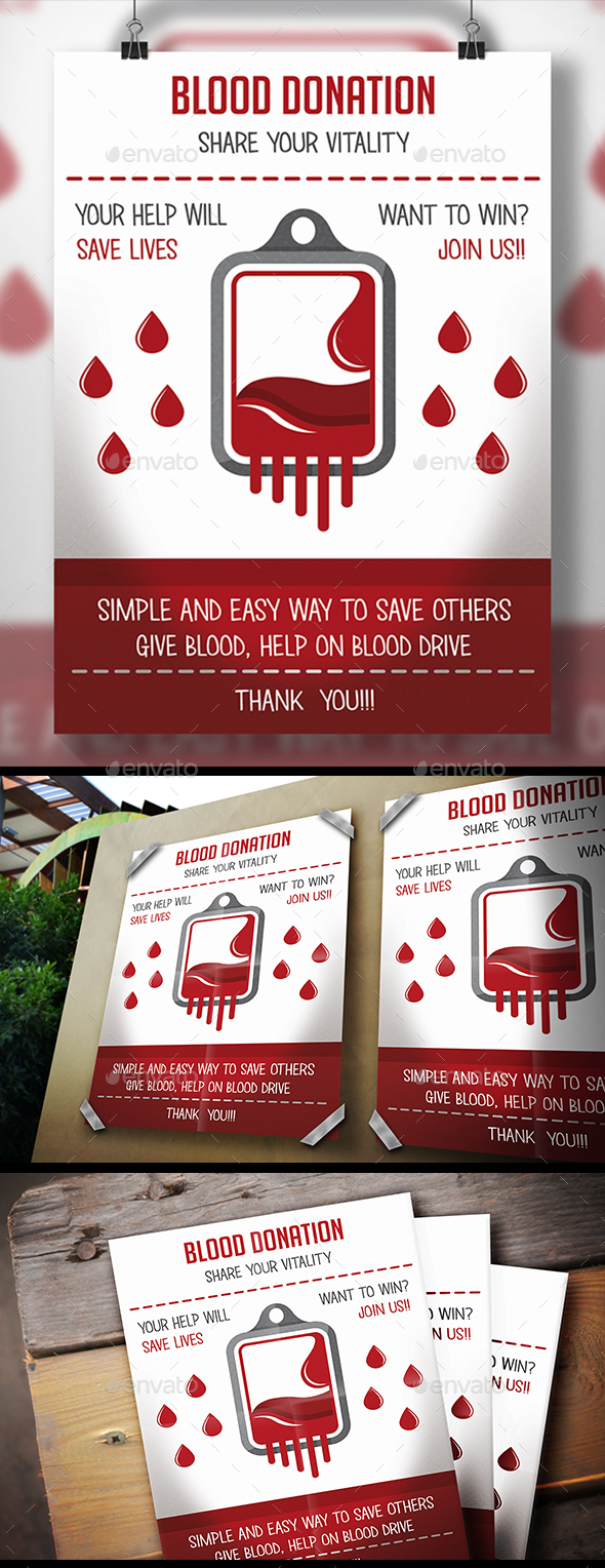 Blood Donation Flyer - Corporate Flyers
