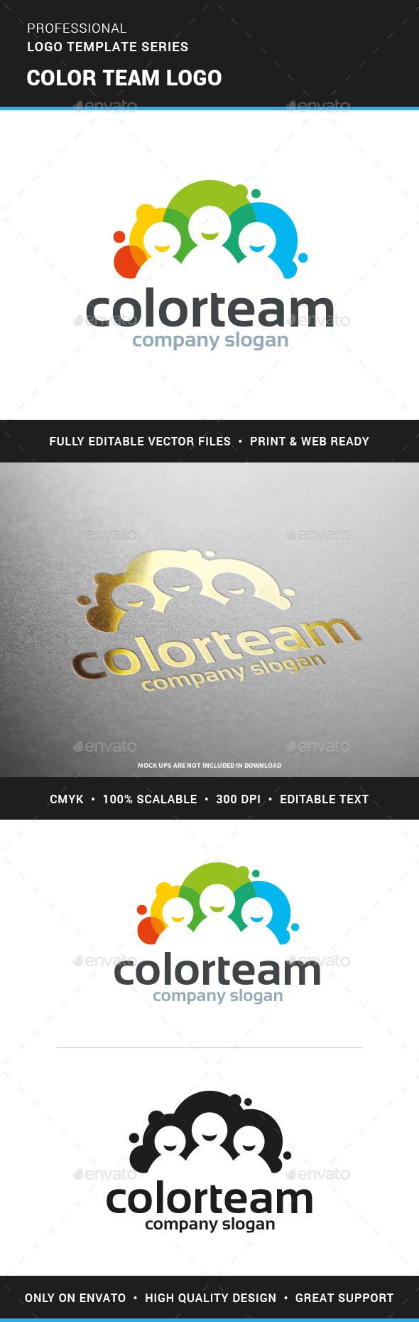 Color Team Logo Template - Humans Logo Templates