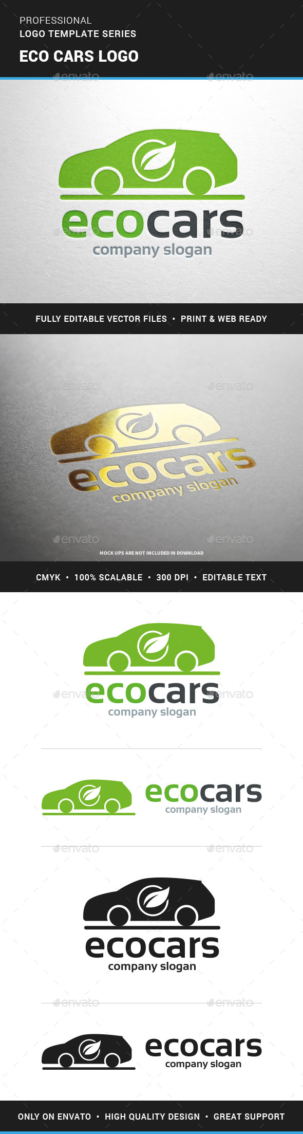 Eco Cars Logo Template - Objects Logo Templates