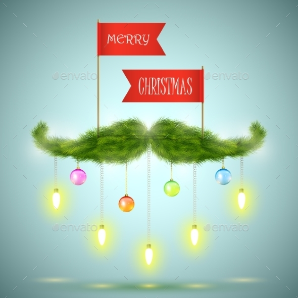 Santa Mustache Vector Illustration - Christmas Seasons/Holidays