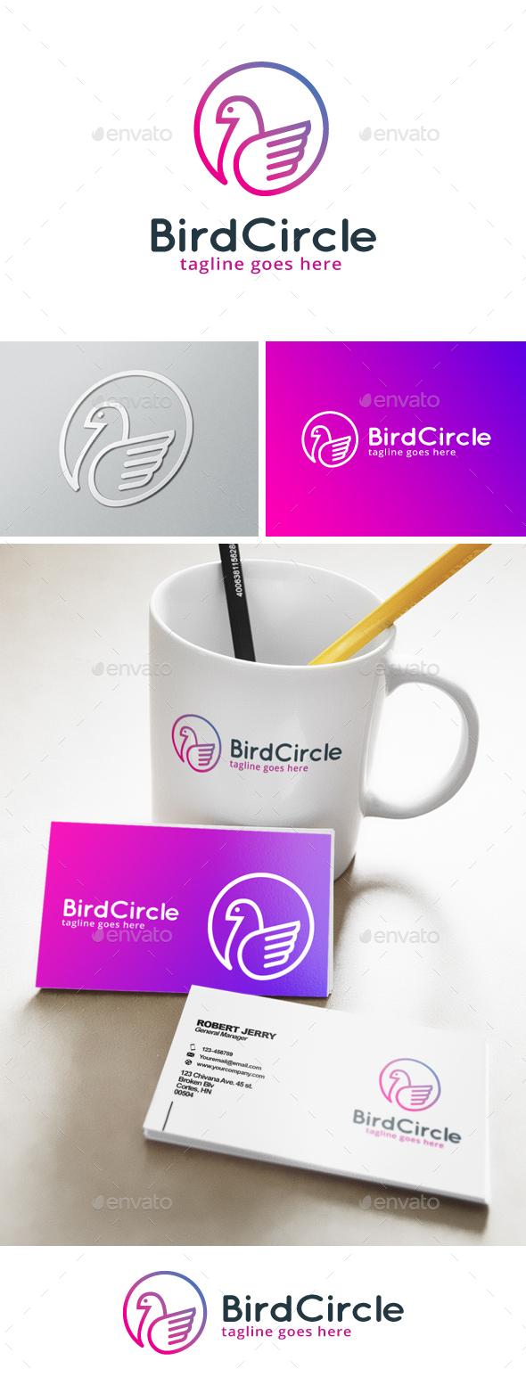 Bird Circle Logo - Animals Logo Templates