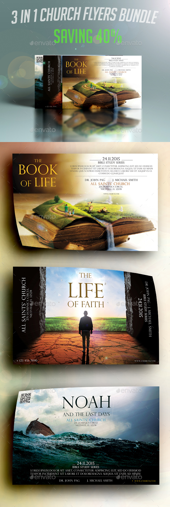 3 in 1 Church Flyers Bundle - Church Flyers