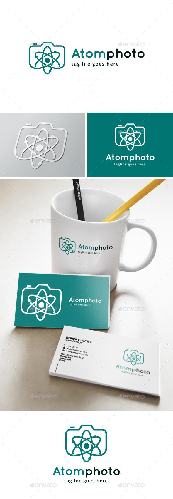 Atomic Photo Logo - Objects Logo Templates