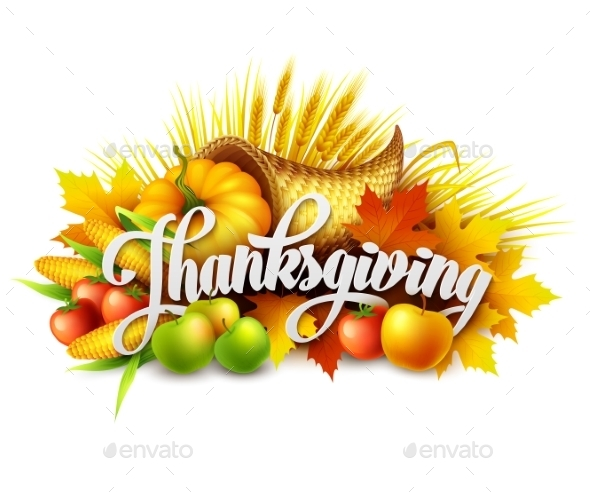 Illustration of a Thanksgiving Cornucopia - Seasons Nature