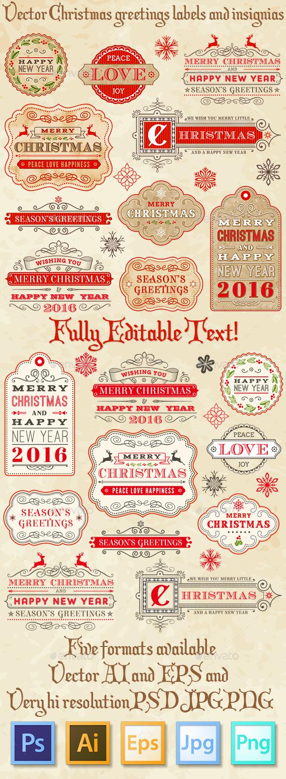 Christmas Editable Labels - Christmas Seasons/Holidays