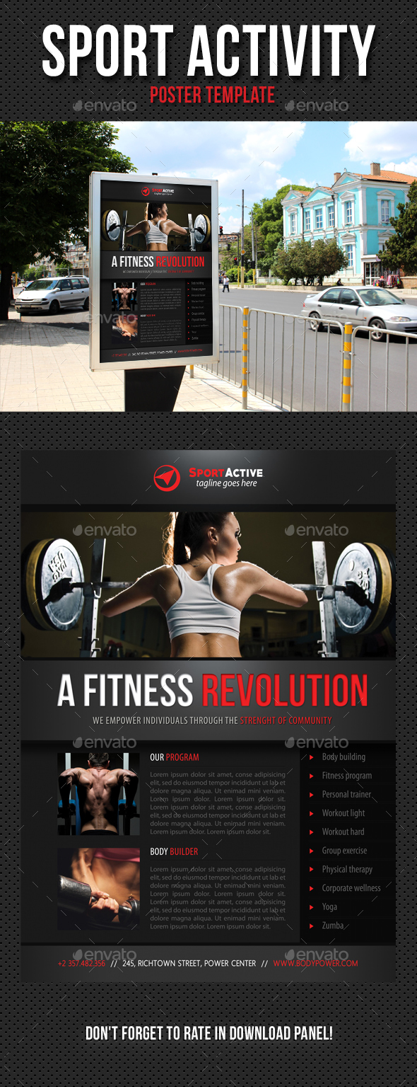 Sport Activity Poster Template V06 - Signage Print Templates