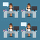 Business People Behind Desk - GraphicRiver Item for Sale