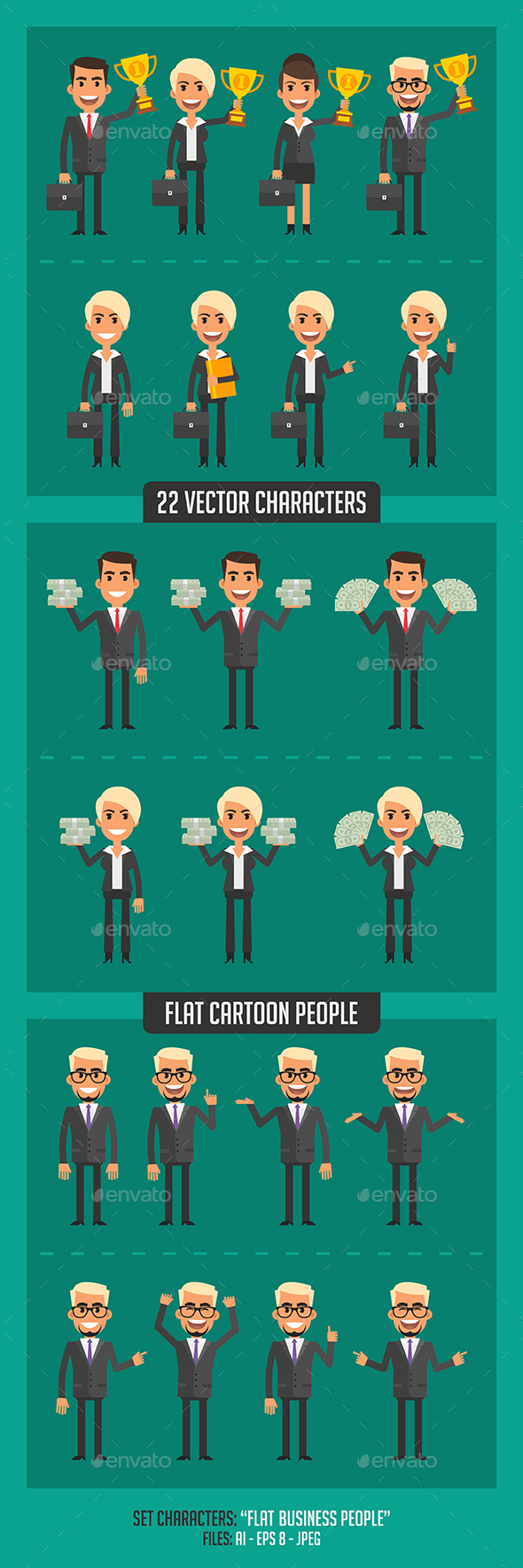 Flat Business People - People Characters