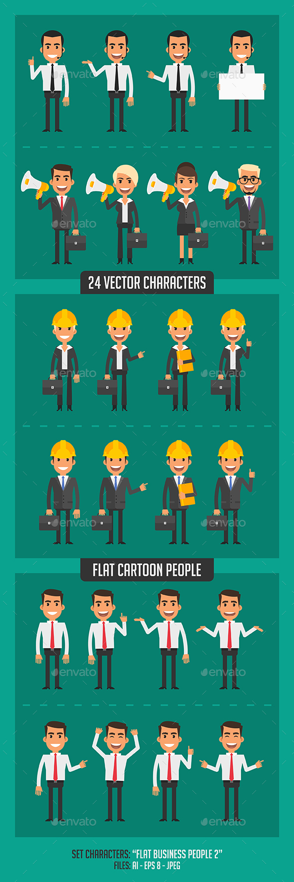Flat Business People 2 - People Characters